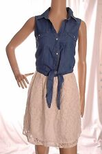 ATMOSPHERE Denim and lace detail dress size 12 UK 40 EUR
