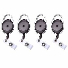 4 pcs Carabiner Badge Reel for Key Cards ID Cards with 31 Inch Retractable Cord