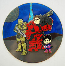 WRECK IT RALPH VANELLOPE HALO MASTER CHIEF MASH UP FANTASY PIN 3.5 INCH LE 75