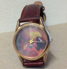 Rare Fossil PC-7372 Prism Watch Crystal multi color Face vintage Men's Unisex