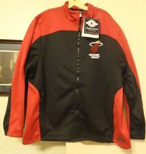 NWT Mens - XXL- Miami Heat Patch Hexsport Fleece Jacket Charles River Apparel