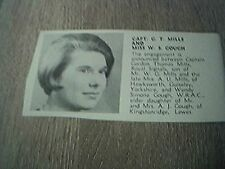 ephemera 1967 picture sussex engagement g t mills miss w s gough guiseley lewes