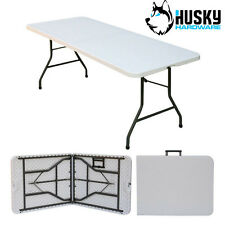 HUSKY 6ft Folding Plastic Table Banquet Trestle BBQ DIY Camping Picnic Catering