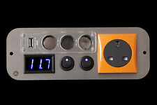 Fiat Doblo Campervan Orange 240v,12v Switches,3 Way USB Voltmeter