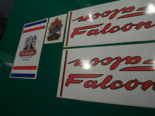 Falcon decal set for Lincolnshire-made frames incl. metallic-print head decal #2