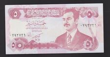 5 DINARS SADDAM HUSSEIN IRAQ IRAQI CURRENCY MONEY NOTE BANKNOTE Five