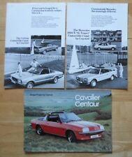 CRAYFORD Ford Cortina, Mercedes St Tropez & Cavalier Centaur orig brochures x3