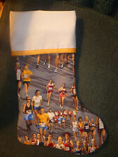 Handmade Christmas Stocking, runners (grey) COMPLETELY LINED