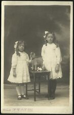 Burnley photo. Two Girls & Toy Goat by Brunton, M.R.S.A.