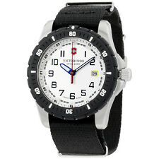 Victorinox Swiss Army White Dial Black Nylon Men's Watch 2416761