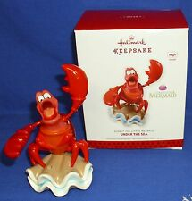 Hallmark Ornament Disney The Little Mermaid Under the Sea 2013 Sebastian Crab #3