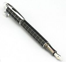 New BAOER 79 Star Cross Line Fountain Pen Silver Trim