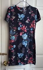 French Connection blue and pink floral t-shirt dress size 8