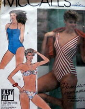 LOVELY VTG BATHING SUITS Sewing Pattern Bust 36-38