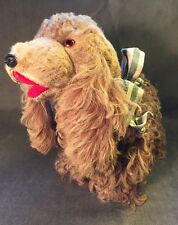 "Adorable Vintage Small 10"" Stuffed Cocker Spaniel Dog Straw Stuffed Mohair"