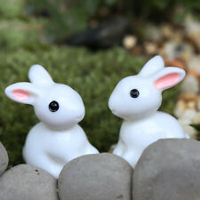 4pcs Rabbit Miniature Ornament Home Decor Fairy Garden Figurine Bonsai Statue FO