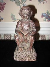 RESIN MELANNCO MONKEY OR CHIMP STATUE BOOKEND FIGURINE FROM CHINA