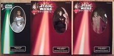 "12"" Princess Leia & (both) Queen Amidala Star Wars Portrait Edition figure set"