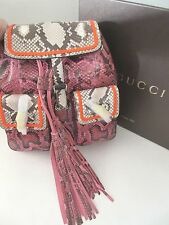 $4,200 AUTHENTIC  GUCCI Bamboo Sac Python Backpack Handbag New in Box 370833