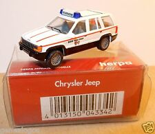 MICRO HERPA HO 1/87 CHRYSLER JEEP GRAND CHEROKEE BSB FIRE CHIEF FEUERWEHR IN BOX