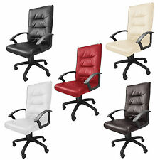 Executive Office Chair Luxury PU Leather Swivel High Back Desk Chair Work Study