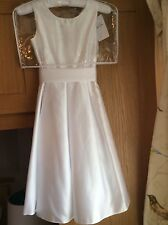 Gorgeous White Bridesmaid/ First Holy Communion / Confirmation Dress - Age 12-13