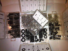 833PC KIT 106 HEX CAP & 377 STAINLESS STEEL SCREWS, 170 U-CLIPS & 180 GROMMETS