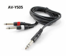"5ft 1/4"" TRS Stereo Plug to Dual 1/4"" TS Mono Plug Audio Cable, AV-YS05"