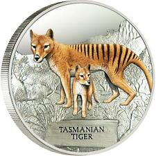 2011 Tasmanian Tiger Tuvalu - 1oz Silver Proof - RARE - Ultra Low COA #0013/5000