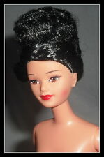 NUDE BARBIE  RAVEN HAIR BROWN EYES CHINESE EMPRESS MATTEL DOLL  FOR OOAK