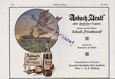 RÜDESHEIM, Werbung 1916, Hugo Asbach Weinbrand Asbach Uralt deutscher Cognac