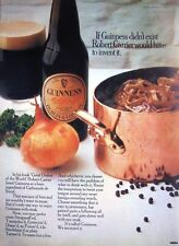 1971 GUINNESS Beer Advert Robert Carrier 'Dishes of the World' Original Print Ad