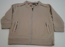 BURBERRY Baby Boy Beige 100% Cotton Zip Front Long Sleeve Casual Jacket Top 2Y