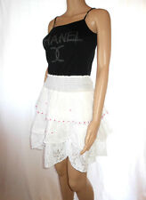 AF12 Vintage Look Lace Customized High Waist Casual Hippy Boho Flared Ruff Skirt