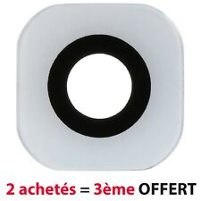 BLANC WHITE Lentille Vitre Cache Camera Appareil Photo Lens Samsung Galaxy S6