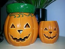 "Scentsy Halloween Lot ""JACK O LANTERN"" Full Size Warmer, Plug In NIB with bar"