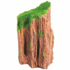 Ceramic Fossil Wood with Artificial Moss Aquarium Ornament Fish Tank Decoration
