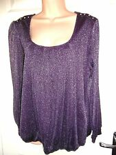 WALLIS LADIES STRETCHY CHIFFON SPARKLY PARTY EVENING TOP 14/16