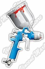 "Spray Gun Car Paint Airbrush Air Compressor Bumper Vinyl Sticker Decal 3.5""X5"""