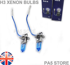 2X H3 100w Halogen Bulbs SUPER BRIGHT XENON White Head Light Car Van FOG Lamp UK