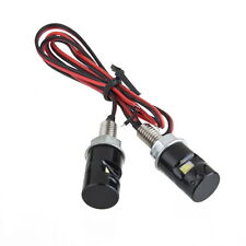 Universal 2x White LED Motorcycle Motorbike Car License Plate Bolt Light Bulb LO