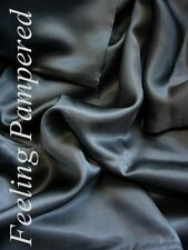 """Luxurious 100% silk charmeuse Fitted Bottom sheet Full size Dark Gray 56x76"""""""