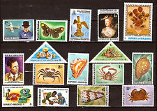 MALDIVES  neufs : crustacés, coquillages,personnages,papillons, divers  F275