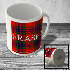 MUG_CLAN_592 FRASER surname (Fraser Modern Tartan) (full background) - Scottish