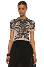ALEXANDER MCQUEEN BAROQUE SPINE LACE CROP TOP SMALL