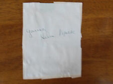 HELEN MACK SIGNED 4X6 PIECE OF PAPER