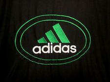 ADIDAS black green windbreaker classic track jacket lrg 1990s polyester retro