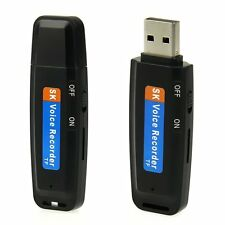 USB Mini 2-8GB Flash Drive Pen U Disk Digital Audio Voice Recorder TF Recording