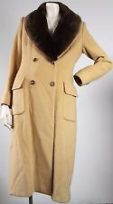 Brooks Brothers Women's Coat 100% Camel Hair Removable Faux Fur Collar Size 6