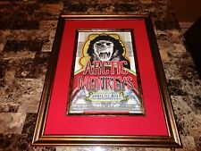 Arctic Monkeys RARE Band Signed Framed & Matted Concert Show Gig Poster Mexico